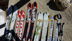 Brochettes de ski