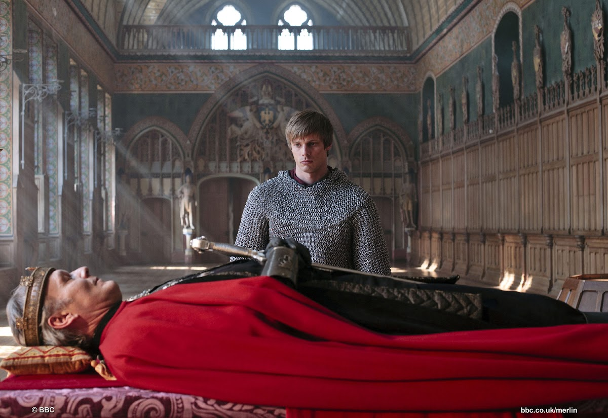 Anthony Head is King Uther and Bradley James is Arthur