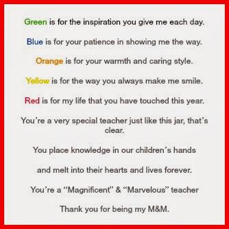 M&M Poem