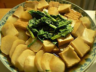 カブと絹揚げの煮物