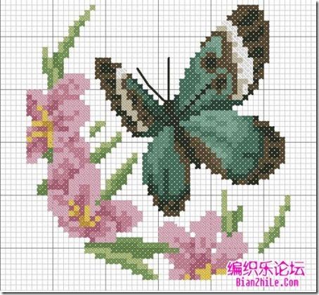 mariposas punto cruz (8)