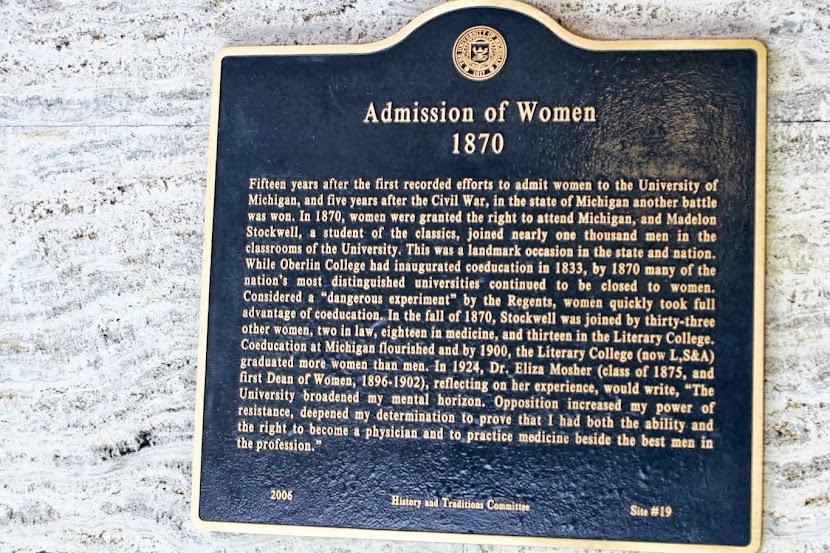 Ann Arbor - Admissão de mulheres na universidade de Michigan