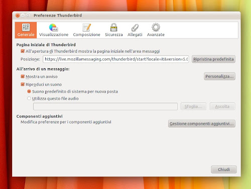 Thunderbird 5.0 beta 1
