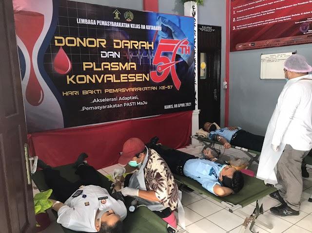 Peringati Hari Bakti Kemasyarakatan, Lapas Kotabaru Gelar Donor Darah