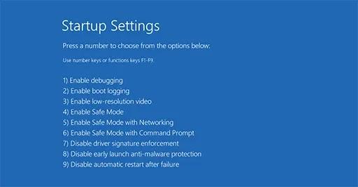 الوضع الآمن في Windows