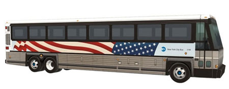September 11 Attacks NYC Bus Papercraft