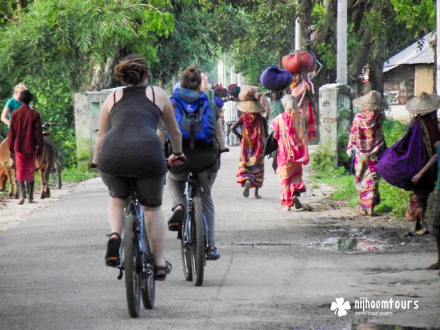Cycling at Srimangal