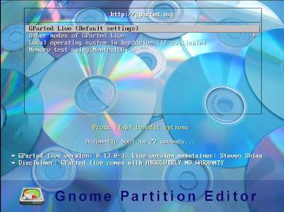 Extender tamaño partición sistema W2003 NTFS con GParted en VMware ESXi