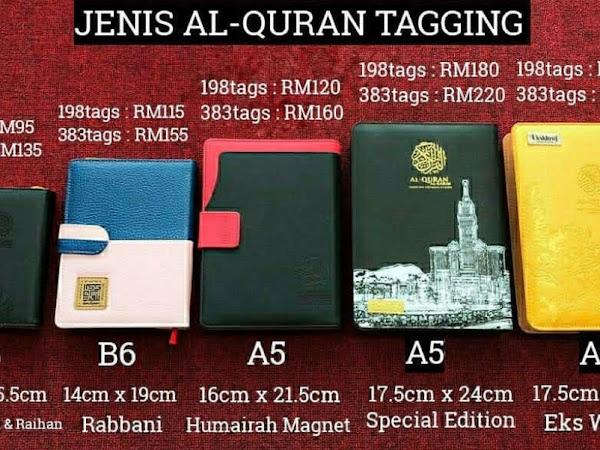 Stok Update AlQuran Tagging