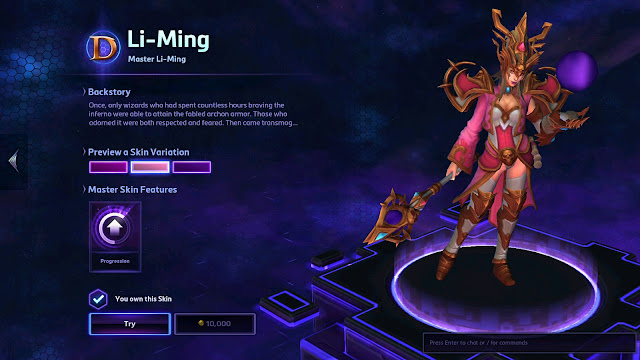 Pink Master Li-Ming from Heroes of the Storm