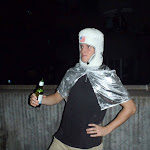 A retarded astronaut at Halloween.