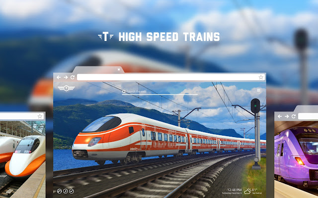 High Speed Trains HD Wallpapers New Tab Theme