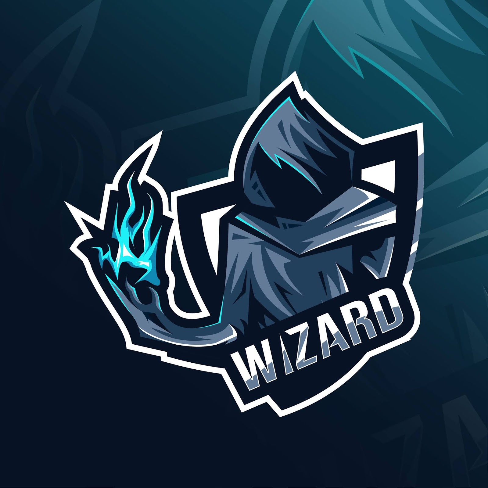 Wizard Mascot Logo Esport Template Free Download Vector CDR, AI, EPS and PNG Formats