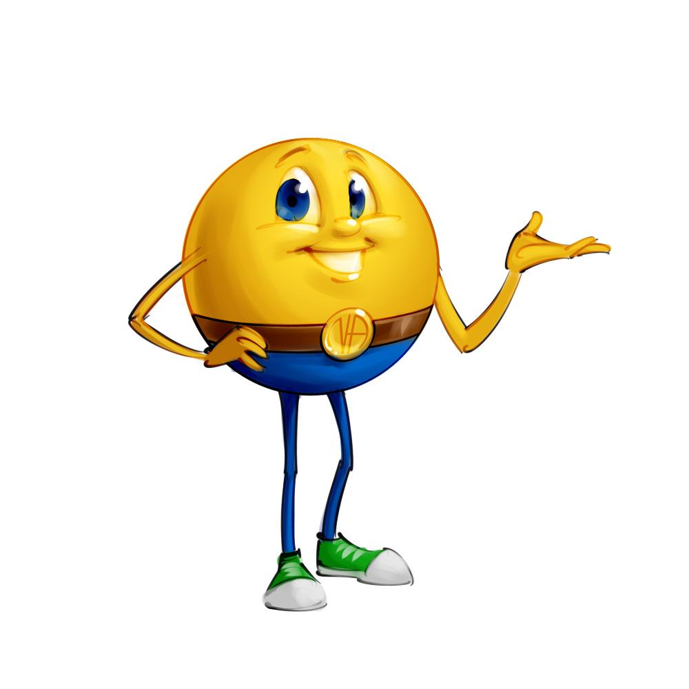Smiley guy mascot concept