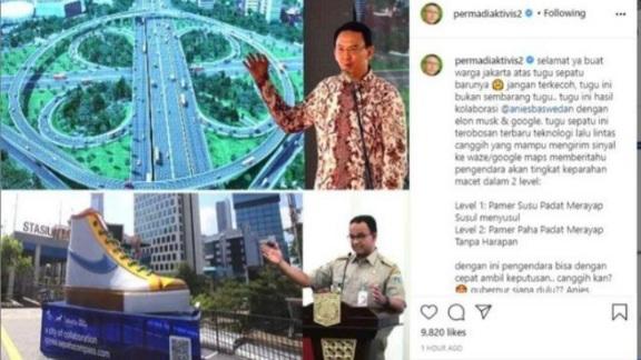 Abu Janda Bandingkan Tugu Sepatu Anies dengan Simpang Semanggi Ahok, Netizen: Makan Tuh Seiman..