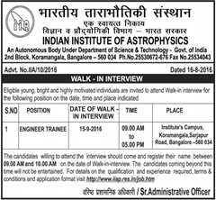 IIA Walk in INterview 2016 www.indgovtjobs.in