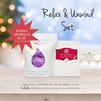 Young Living Gift Ideas Holiday Catalog 2018 Relax and Unwind Set A savings