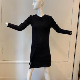 Balenciaga Navy Sweater Dress