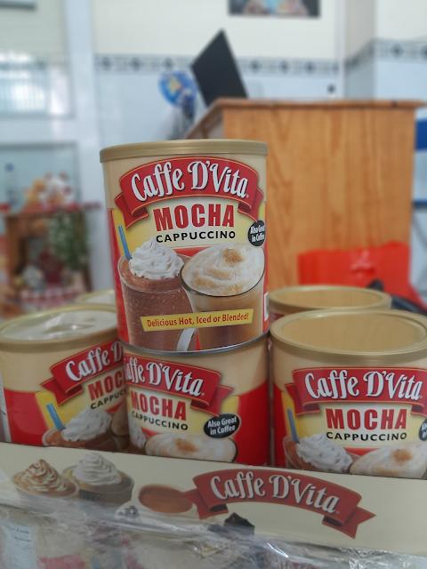 Cà phê bột Mocha Capuchino Caffe D'Vita 1.8kg của Mỹ