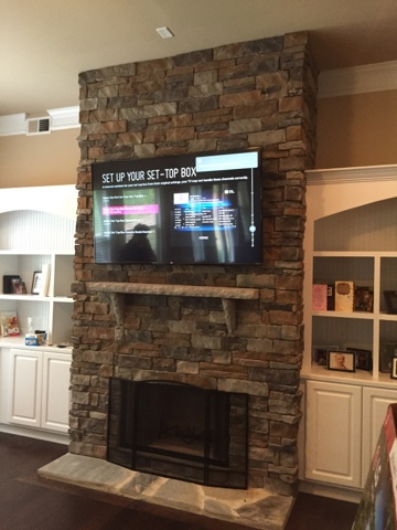 Tv Wall Mounting Charlotte Nc Hdtv Mounting On Stone Fireplace