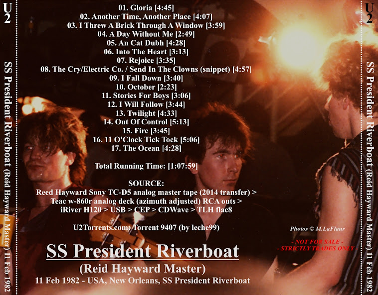 U2 - SS President Riverboat, New Orleans, 11 February 1982 (CD