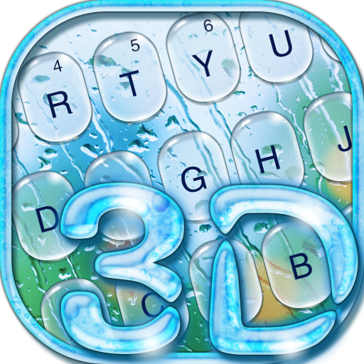 3D Glass Water Drop Keyboard Theme Android APK Download Free By Powerful Phone