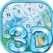 3D Glass Water Drop Keyboard Theme