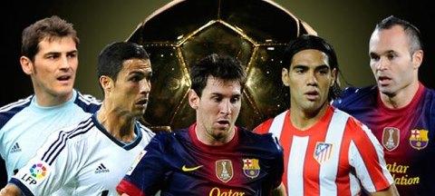 Nominados al Balón de Oro 2012