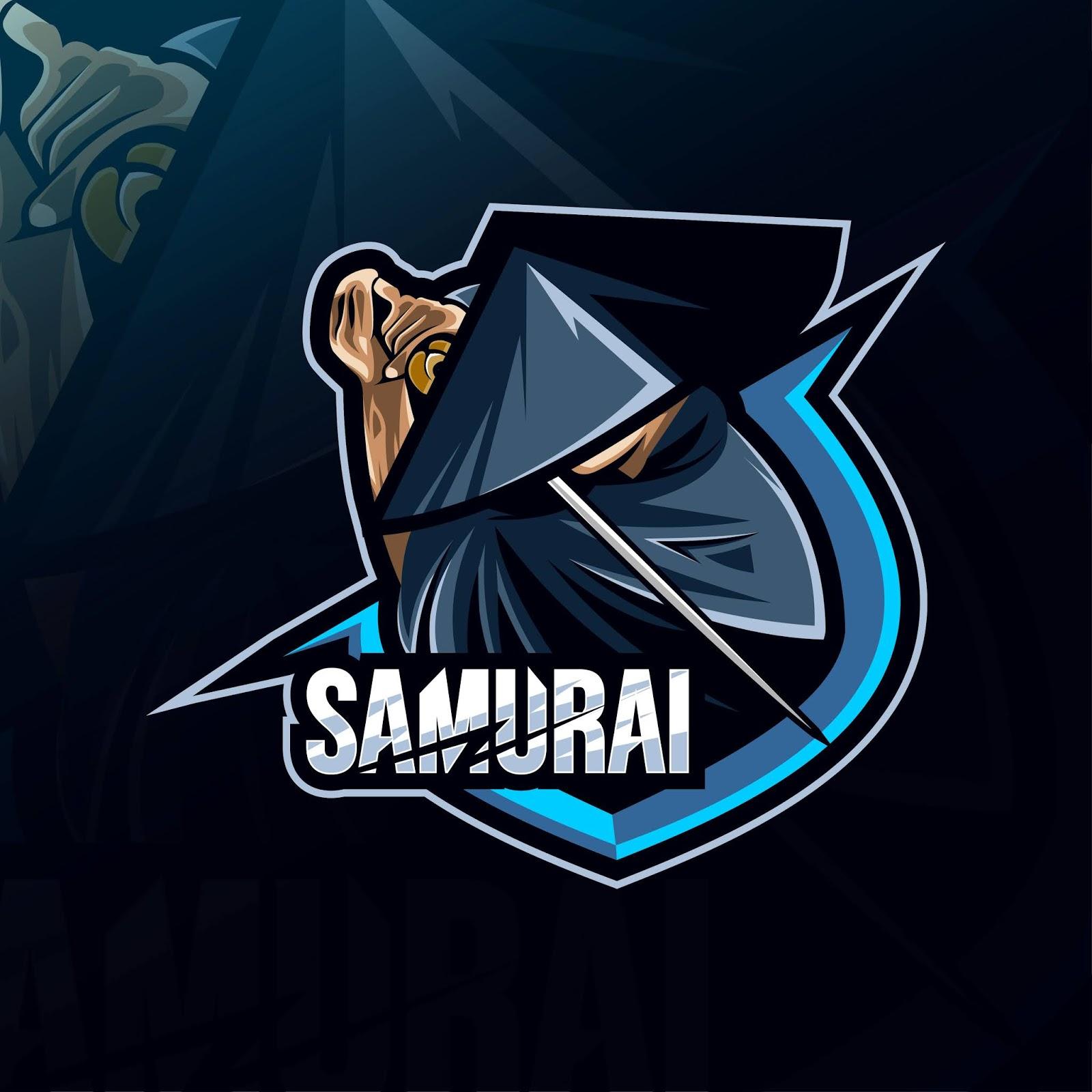 Samurai Mascot Logo Esport Templates Free Download Vector CDR, AI, EPS and PNG Formats