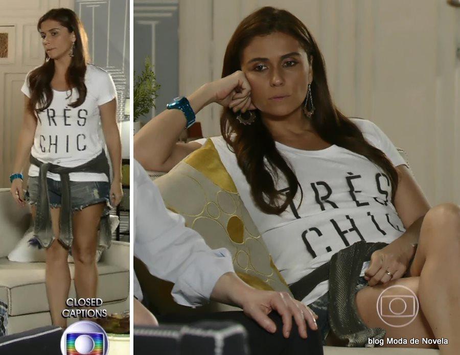 moda da novela Em Família - look da Clara dia 5 de junho