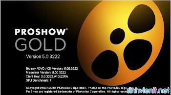 Proshow Gold 5.0 full Crack + Hướng dẫn
