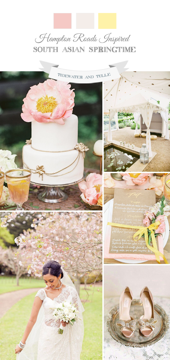 Springtime pastel Indian wedding inspiration