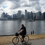 cycling at Stanley Park, Vancoucer in Vancouver, British Columbia, Canada