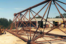 Stack Support Derrick Fabricated from Pipe