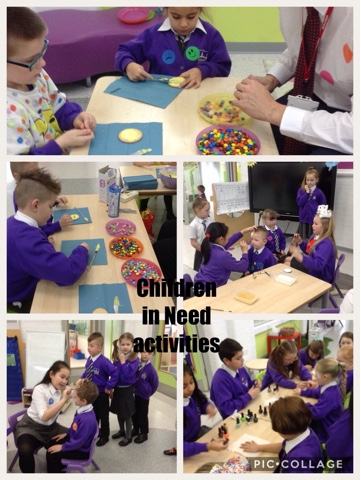 2HL enjoying the Children in Need activities.