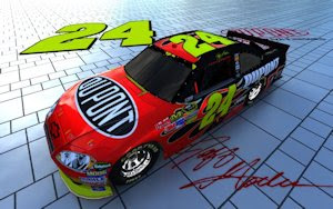 Jeff Gordon NASCAR Bricks Wallpaper