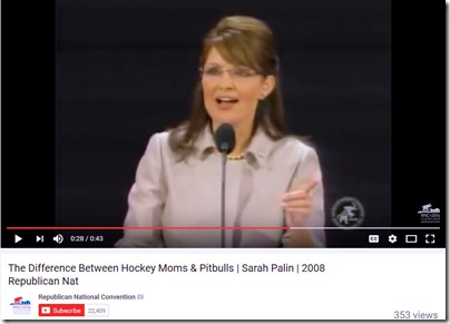 Sarah Palin at Republican Convention 2008