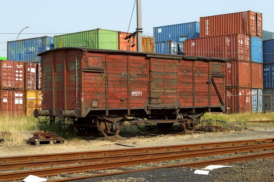 Gklm gesloten goederenwagen Haven Antwerpen  Lillo 2003-08-08
