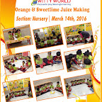 Orange & Sweetlime Juice making Activity at Witty World, BN by Nursery Section [ 2015-16 ]