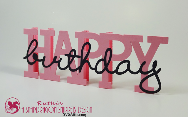 Happy Birthday Beam - SnapDragon Snippets - Ruthie Lopez - My Hobby My Art