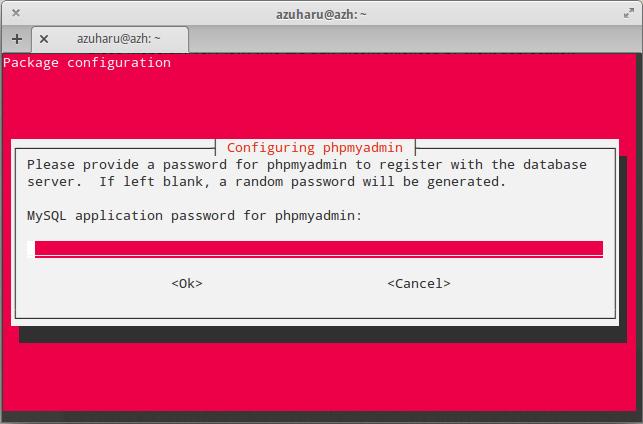 konfigurasi mysql password elementary os untuk phpmyadmin