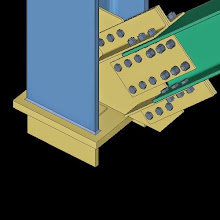 SDS2 Model of Vertical Bracing to Column Connection AISC