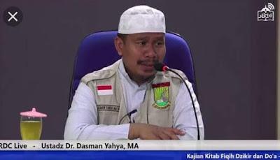 Biografi Ustadz Dr. Dasman Yahya Ma'aly, Lc.MA, ulama ahli hadist asli riau