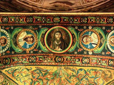 Mosaic in the Basilica di San Vitale in Ravenna Italy