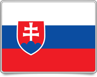Slovak framed flag icons with box shadow