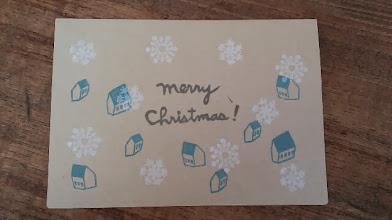 Photo: 二つ折りカード8 (christmas card)〈表〉