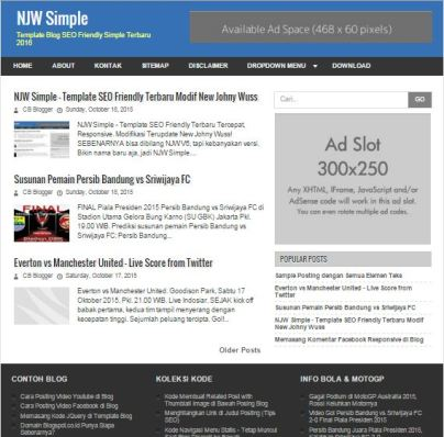 NJW Simple Template Simple SEO Friendly Fast Loading Responsive