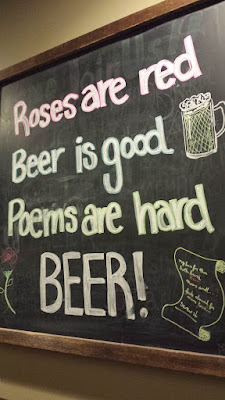 Poetry: Roses are red, Beer is good, Poems are hard BEER