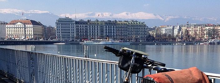 Nördliche Ufer-Promenade des Genfer Sees in Genf