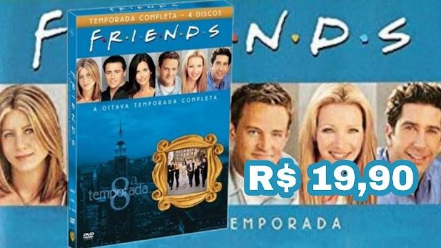 DVD Friends 8ª Temporada completa em promoção na Americanas por apenas R$ 19,90